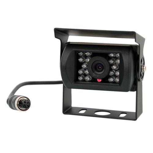 Farb Rückfahrkamera in Schwarz mit Nachtsicht und IP67 für alle Monitore & für WT-7RM Systeme (a. Rückfahrkamera Schwarz ohne Verlängerungskabel)