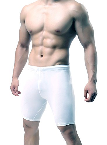 KD Willmax Compression Half Tight Plain White Large Athletic Fit Multi Sports Cycling, Cricket, Football, Badminton, Gym, Fitness & Other Outdoor Inner Wear  available at amazon for Rs.349