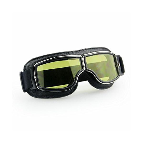 Masque moto Biker Noir et verres jaune 1