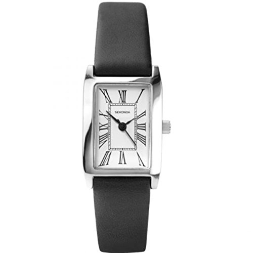 Sekonda 4025–Armbanduhr, Lederband schwarz