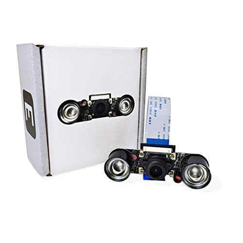 Electreeks® Raspberry Pi Kamera Modul mit 130° Weitwinkel-Objektiv Full HD und Infrarot LEDs
