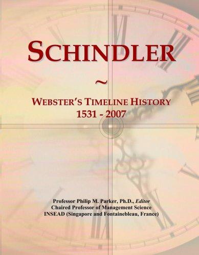 schindler-websters-timeline-history-1531-2007