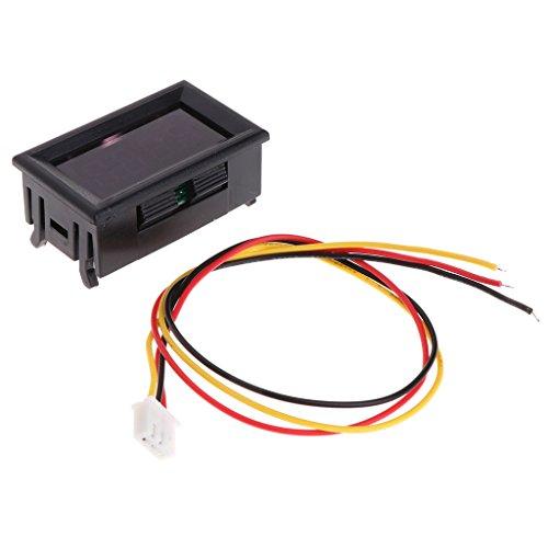A0127 2 en 1 LED Tacómetro Indicador Digital RPM Voltímetro para Auto Motor Rotating Speed