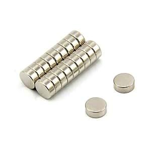 First4magnets 10 mm Durchmesser, 4 mm dicker, N42-Neodym-Magnet, 2,3 kg Anziehungskraft 2 Stück-Packung, F654-20