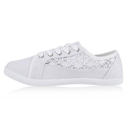 lowest price dcf73 20a63 Basic Damen Sneakers Sneaker Low Spitze Stoffschuhe Schnürer ...