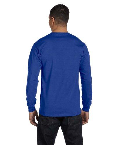 Hanes Tagless Long-Sleeve T-Shirt 1 Deep Forest + 1 Deep Royal