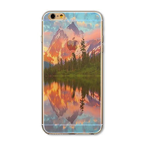 Coque iPhone 6 6s Housse étui-Case Transparent Liquid Crystal en TPU Silicone Clair,Protection Ultra Mince Premium,Coque Prime pour iPhone 6 6s-Paysage-style 8 18