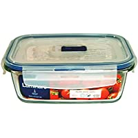 Luminarc Pure Box Active - Recipiente hermético rectangular de vídrio, 0,82 l