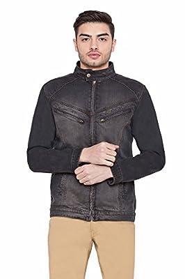 Krossstitch Full Sleeve Men's Denim Jacket with Zip Clouser