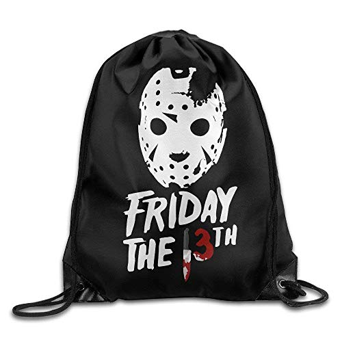 GONIESA Fashion Unisex Gym Bag Jason Voorhees Friday The13th Travel Sport Bag Drawstring Backpack/Rucksack