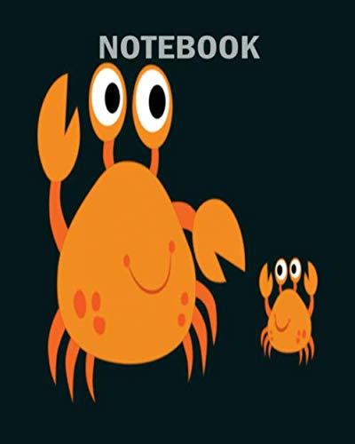 Notebook: crab crab brachyura sea animal lobster gift - 50 sheets, 100 pages - 8 x 10 inches