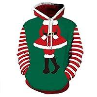 Sudaderas Hombre, BBestseller Hombres 3D Impresión Abrigo Chaqueta suéter de Invierno Hoodies Sudadera con Capucha Navidad