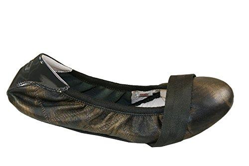 Puma Rudolf Dassler Rhythm Metal Damen Leder Ballett Pumps/Schuhe-Bronze-36