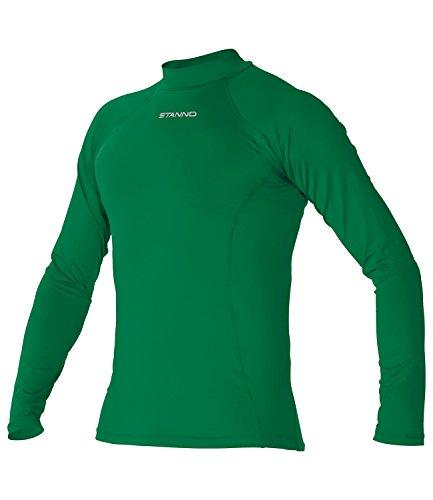Stanno-Maglia da uomo a manica lunga, primo strato, da calcio Verde - verde