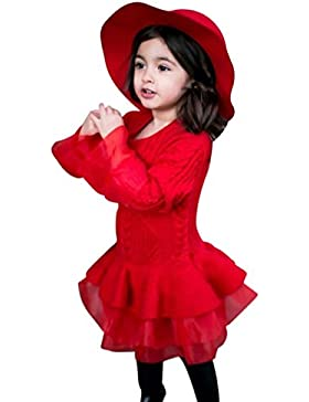 Lenfesh Baby Mädchen Stricken Prinzessin Tutu Kleid Infant Kinder Mode Winter Pullover Partykleid