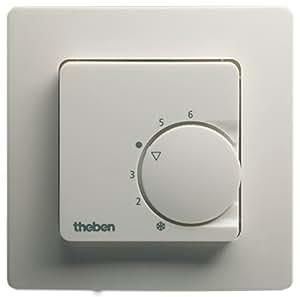 Thermostat int rieur encastrer theben ram 741 blanc for Thermostat interieur