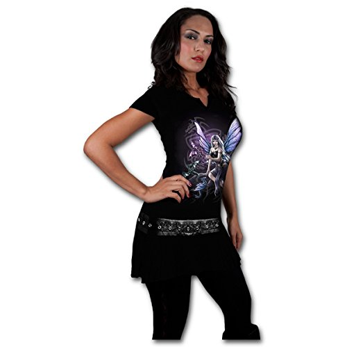 Spiral Women – Dragon Keeper – Stud Waist Mini Dress Black – X-Large