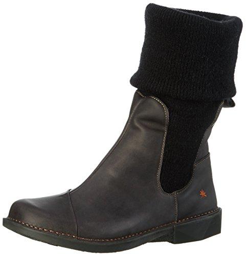 artBERGEN - Stivali a metà polpaccio con imbottitura leggera Donna , Nero (Nero (nero)), 40