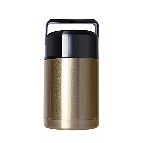 MAVIE Thermos Flask Vacuum Thermoskanne, 1000ml Edelstahl Thermosflasche für Lebensmittel und Trinken