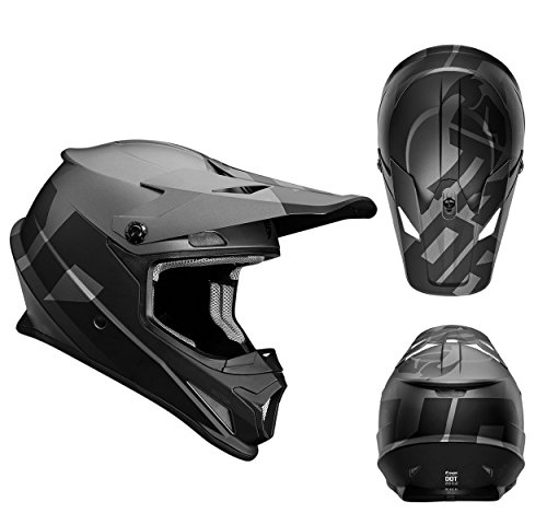 Thor Crosshelm Sector Level Motocross Enduro MX Helm matt schwarz grau Gr. XL (Thor Racing)