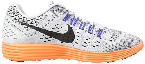 Nike - Lunartrainer, Sneakers da uomo bianco (white/black-total orange-game royal)