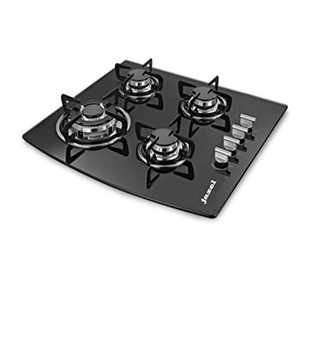 Jazel Sparkle 4 Burner Hob Body with Toughened Glass (Auto Ignition)