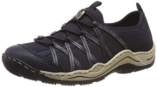 Rieker Damen L0559-15 Sneaker, Blau (Pazifik/Pazifik/Nightblue/Navy 15), 39 EU