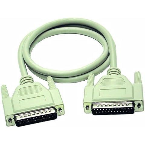 C2G 2m DB25 M/M Cable - Cable de impresora (Beige)