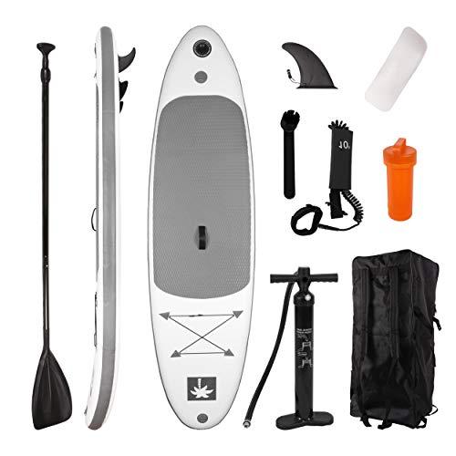 YOUKE Stand up Board Set, Sup-Board aufblasbar, Paddelboard mit Pumpe, Paddelbrett mit Alu-Paddel