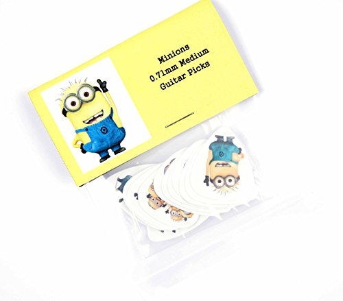 Image of Minions Guitar Picks Set of 12 Minion plectrums Despicable Me