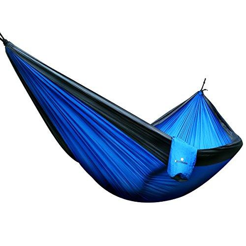 MONOJOY® doble paracaídas hamaca de viaje - Hamaca ligero y compacto -...