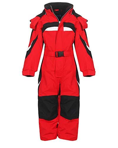 PM Kinder Outdoor Skianzug Snowboard Unisex Jungen Mädchen Funktionsanzug Hardshell Schneeanzug Winter LB1310, rot, 134