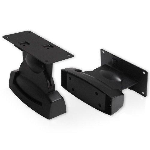 1 Paar HQ Schwerlast Lautsprecher/Satelliten-Boxen Wandhalter Schwarz bis 10kg