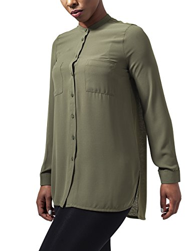 Urban Classics Ladies Hilo Chiffon Blouse, Camicia Donna, Grün (Lightolive 729), 46
