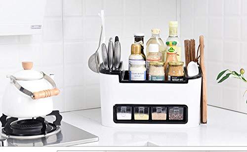 XTe-SM Lagerregal Küche Gewürzkasten Set Kombination Messerhalter Küche liefert Kunststoff Lagerregal Gewürzglas