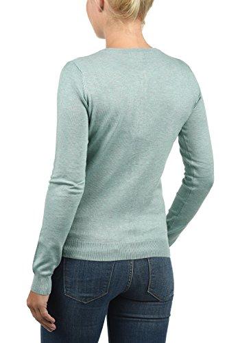DESIRES Effie Damen Strickjacke Feinstrick Cardigan Strickcardigan Mit Rundhals Und Knopfleiste, Größe:XS, Farbe:Slate Gr (3579M) - 3