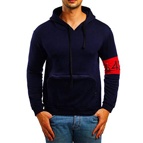 Kapuzenpullover Herren Briskorry Männer Herbst Winter Hoodie Sweatshirt  Strickpullover Tasche. 6c0523c653