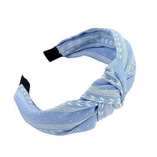 YWLINK Mode Knoten Haarband Frauen Kopfband Süß MäDchen Klassisch Breit Waschen Haarband(Himmelblau)