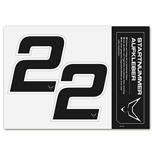 Números, números, Start Número Pegatinas Juego de 2# 2racefoxx