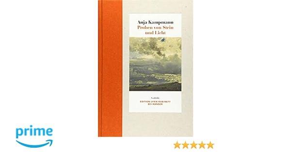Proben Von Stein Und Licht Gedichte Edition Lyrik Kabinett