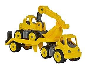 BIG Power-Worker Mini Transporter + Digger De plástico vehículo de Juguete - Vehículos de Juguete (De plástico, Negro, Amarillo, 2 año(s), 5 año(s), Niño, 115 mm)