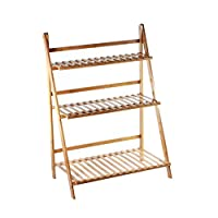 CultusWares Wooden Plant Ladder Display Stand - Various Sizes - Flower Steps