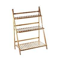 GOLDBEARUK Wooden Plant Ladder Display Stand - Various Sizes - Flower Steps