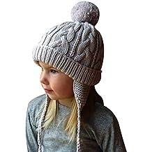 f1b5820e14df Bonnet Chapeau Enfant Bébé Hiver Bonnets Tricoté Fille Garçon Respirant  Doux Beanie Hats avec Torsades Tresse