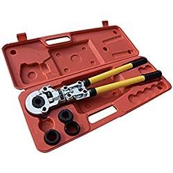 Pince à Sertir TH Multicouche Pince à Sertir pour Tube Contour avec 16 mm, 20 mm, 25 mm et 32 mm