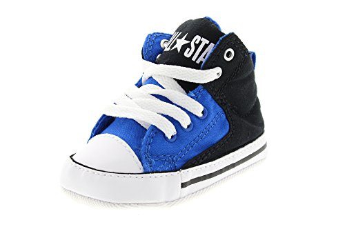 Converse Unisex Baby First Star High Street Sneaker, Mehrfarbig (Black/Soar/White), 19 EU