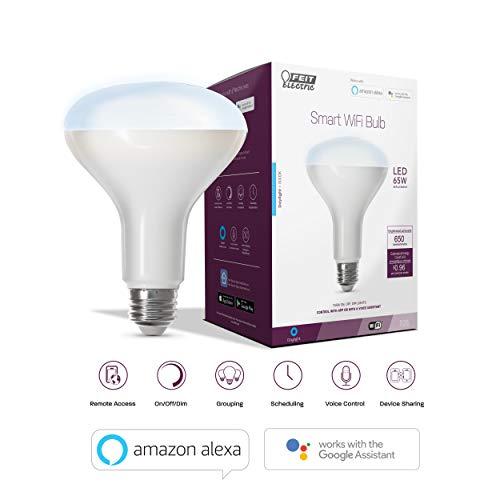 Feit BR30 LED-Tageslicht/Spot-Leuchtmittel, Smart WiFi, Kompatibel mit Alexa und Google Assistent (BR30/950CA/AG) -
