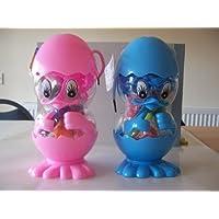 KIDS CREATE Tirelire en forme de poulet Bleu & PINK- livrée au hasard, sauf indication