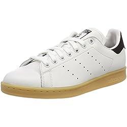Adidas Stan Smith W, Zapatillas para Mujer, Blanco (Rose Crystal White/Rose Crystal White/Core Black 0), 38 EU