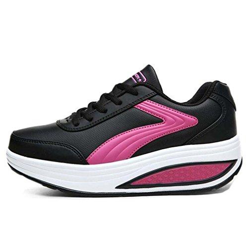 Solshine , chaussures compensées femme Schwarz5